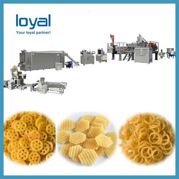 Crispy shell processing line/ Fried Snack Food wheat Flour Bugles Chips Making Machine #1 image