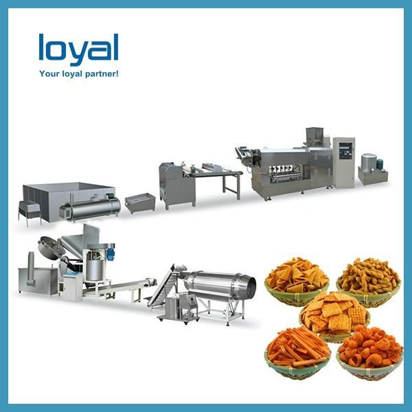Auto Corn Bugles Chips Snack Machines Sala Sticks Wheat Shell Fried Food Processing Line #1 image